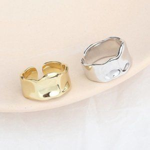 Jewelry - NEW 925 Sterling Silver Open Wave Adjustable Ring